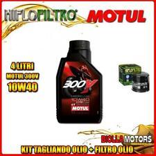 KIT TAGLIANDO 4LT OLIO MOTUL 300V 10W40 TRIUMPH 800 Bonneville T100 (Centennial