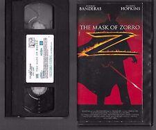 VHS - THE MASK OF ZORRO - 1998 - ANTONIO BANDERAS -=- Buy more and save!