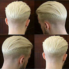 Full Poly Mens Toupee Skin Hairpieces Blonde Thin Skin Human Hair Systems Wigs