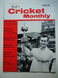 Playfair Cricket Monthly Magazine October 1963 - Ted Dexter (Sussex) Cover
