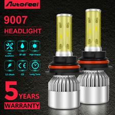 9007 HB5 LED Headlight Conversion Kit 1200W 180000LM High Low Beam Powers Bulbs