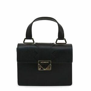 Emporio Armani Women's Bag, Leather Top Handle Handbag - Black / Pink