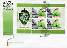 Hungary 2016 FDC Europa Think Green 4v M/S Cover Bicycles Environment Stamps