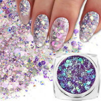 1G Holographic Nail Sequins Powder Glitter Laser Holo Irregular Sequins Flakes