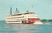 Louisville Kentucky~Red Paddleboat~Steamer Belle of Louisville~Ohio River~1968
