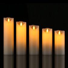 Flameless LED Tealight Tea Wax Pillar Candles Light Battery Operated Home Decor 10cm
