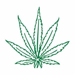 Pot Leaf Marijuana Vinyl Decal Multiple colors 6+year outdoors