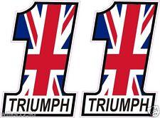 Triumph Motorcycle Union jack bike flag decal car Sticker motorbike