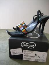 FREE LANCE sandales daim/perles P:37 TG 37,5/38 valeur 227€