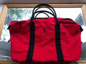 RALPH LAUREN Polo Red Holdall/Travel/Gym/Weekend/Duffle School Bag