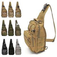Men's Molle Outdoor Tactical Sling Chest Bag Assault Pack Shoulder Messenger Bag