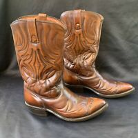 Acme Leather Genuine American Cowboy Boots Brown Size 8.5UK 9dUS 42EU