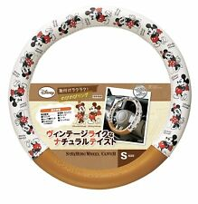 JDM Disney mickey mouse steering wheel cover ivory brown Kawaii car accessory