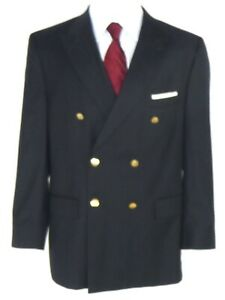 Jos.A. Bank Signature Collections Men's Double Breasted Blazer US 42R Black