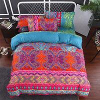NEW Bohemian National Style Comforter Duvet Cover Pillowcase Cover Bedding Set