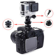 "1/4"" Mount Adapter f Tripod to hot shoe+ Tripod Mount Set for GoPro Hero 2 3 3+"