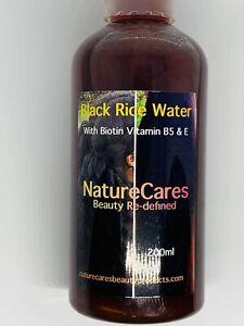 Black Rice Water HairGrowth Tonic With Biotin Vit. E + Amino Acids NatureCares