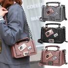 2017 Lady PU Polyurethane Leather Chain Handbag Crossbody Shoulder Messenger Bag