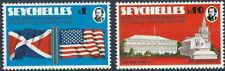 Seychellen - 200 Jahre Unabhängigkeit von USA Satz postfrisch 1976 Mi. 356-357