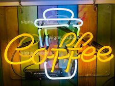 New Hot Coffee Cup Cafe Acrylic Neon Sign 14' Light Lamp Wall Decor Gift