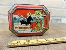 More details for early blue bird christmas toffee tin c1930s santa claus
