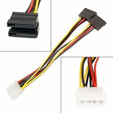 SATA Power Y Splitter Adapter Cable From One Molex 5.25 – 2 x 15 Pin New Style