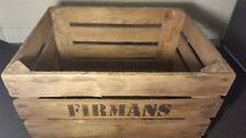 3 x FIRMANS EUROPEAN OLD VINTAGE FRENCH WOODEN FARM APPLE CRATE BUSHELL BOX