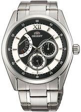 Orologio da polso Orient FUU06004B0 in acciaio multifunzione uomo nero e bianco