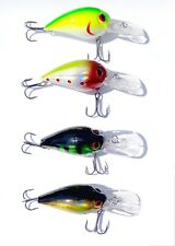 ASSORTED 4 NEW CRANKBAITS Saltwater Freshwater Fishing Lure Hard Bait Bass