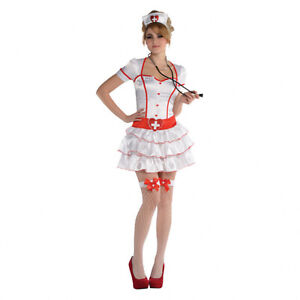 Adults IV Nursing Costume with Matching Nurse Hat Adult Small