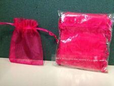 12pc CERISE Mini Organza Silk Bags 10cmx7.5cm FREE POSTAGE