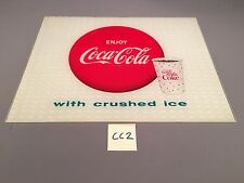 1963 Antique Things Go Better With Coke Enjoy Coca-Cola w Ice sign light insert