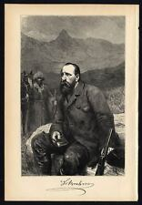 Antique Print-ALFRED BREHM-PORTRAIT-Brehm-1890