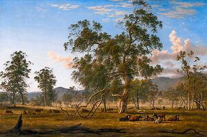 John Glover - Patterdale Landscape with Cattle, Australian Art, Canvas Print