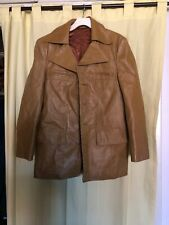 Vintage Genuine Pigskin Jimmy Dean Brown Leather jacket size 42