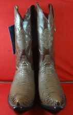 New Men'S Real Python Snake Skin Genuine Leather Cowboy Boots Rodeo Western  C47