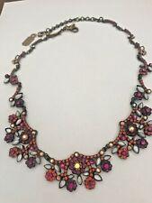 "Crystal Flower Bib Necklace, Nwot New Retired Sorrelli ""Zinnia"" Sparkling"