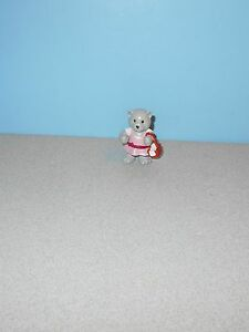 "Webkinz 2"" PVC Figure Series 2 Pink Picnic Charcoal Picnic Basket Kitty Cat"
