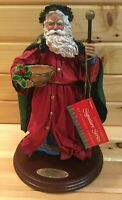 Possible Dreams Clothtique Santa Father Christmas England 1995 W Wood Platform