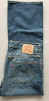 LEVI STRAUSS Men 557 Relaxed Boot Cut 100% Cotton Denim Jean - 36x30 Blue