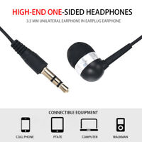 Single Side Universal 3.5mm Headset In Ear Mono Wire Earbud Earphone Headphone