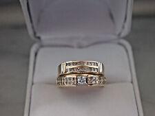 Beautiful Solid 14K Yellow Gold Natural Diamonds Engagement Set,7.27gm