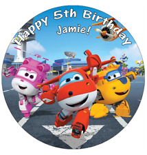 """Super Wings Personalised Cake Topper Edible Wafer Paper 7.5"""""""
