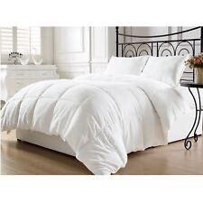 King Size Goose Down Comforter White Blanket Luxury Hotel Bedroom Light Weight