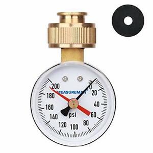 """2"""" Water Pressure Test Gauge, 3/4"""" Female Hose Thread, 0-200 psi/kpa 2"""" Dial"""