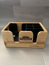 Magners Wooden Cutlery, Napkin, Condimemt Box For Pub Bar Resturant Man Cave
