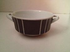 Arzberg 2075 Heinrich Löffelhardt Double Handle Soup Bowl Pinstripe Retro 3371