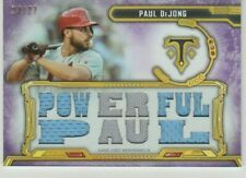 PAUL DEJONG 2020 TRIPLE THREADS POWERFUL PAUL GAME USED JERSEY PATCH # 23/27