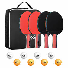 Table Tennis Paddles Set for Sport Beginner with 4 Paddles 8 Balls Carrying Bag