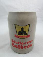 Vintage Stuttgarter Hofbrau German Beer Stein Mug Stoneware 0.5L